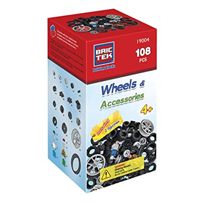 BRICTEK Wheels Kit - 108 Pcs 19004: Toys & Games