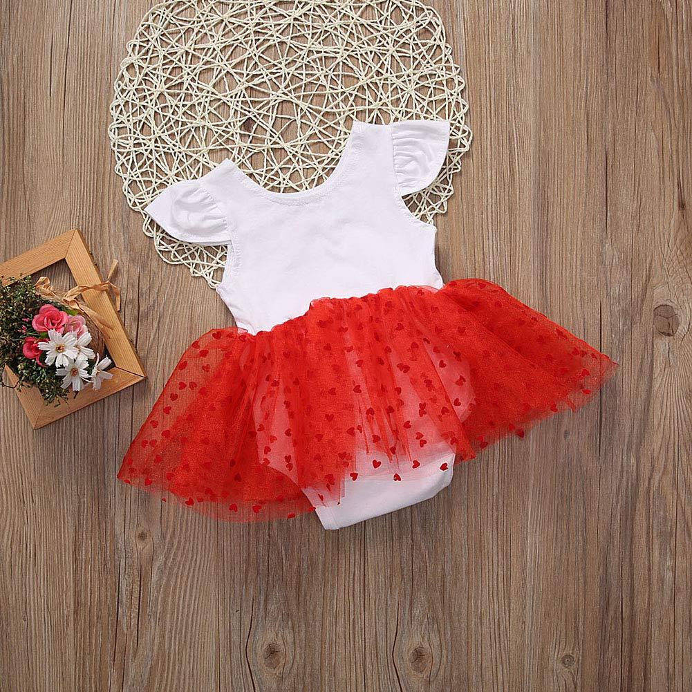 Amazon.com: Bowanadacles - Vestido de San Valentín para bebé ...