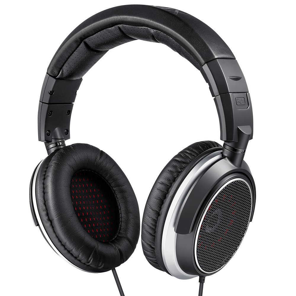 AudioMX HS-5S Studio Monitor Headphones for Mixing and Recording, Open-Back (Replacement Ear Pads and 1/4'' Adaptor)