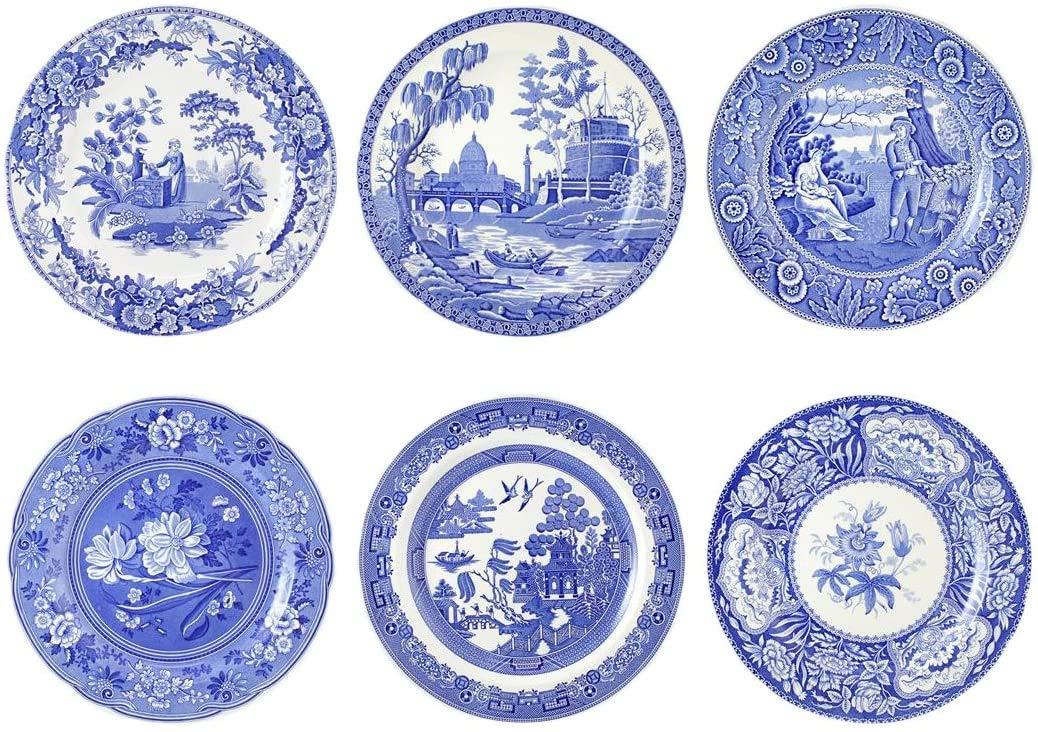 "Blue Room Georgian Plates 10.5"" Set of 6"
