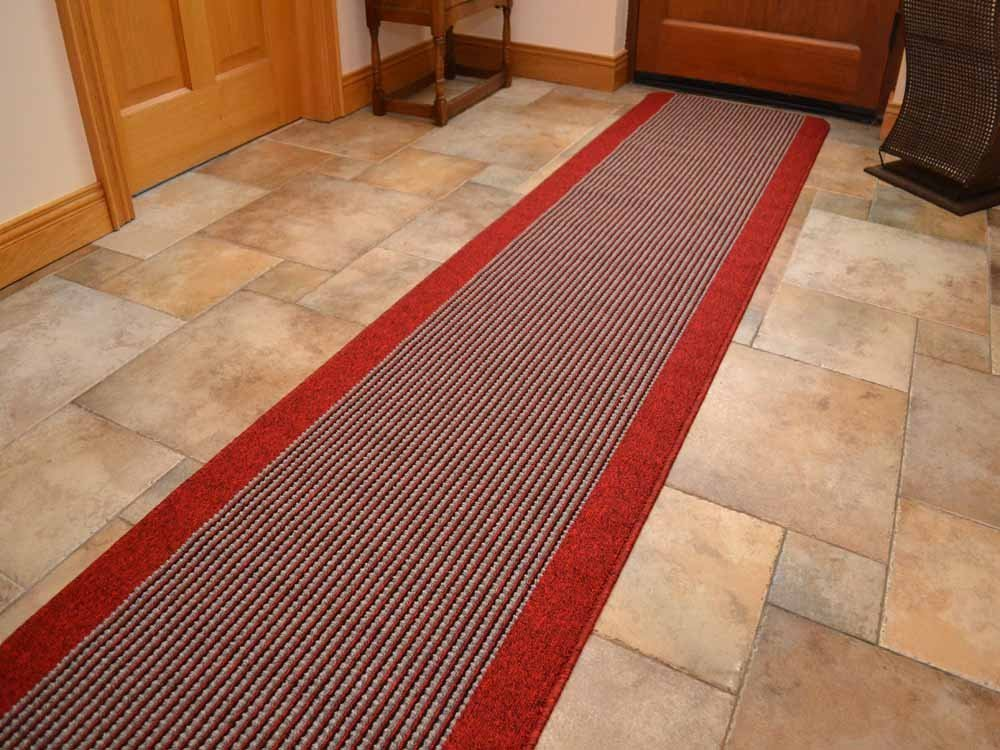New Red Multipurpose Machine Washable Heavy Duty Rug With a Rubber Anti-Slip Backing. 10 (67cm x 120cm) Rugs Supermarket