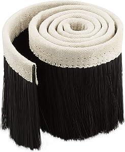 Acrux7 Dust Shoe Brush, 100mm Engraving Machine Dust Cover Nylon CNC Vacuum Brush for CNC Router Spindle Motor Black