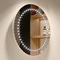 500 x 500 mm Modern Round Illuminated Battery LED Bathroom Mirror MC144