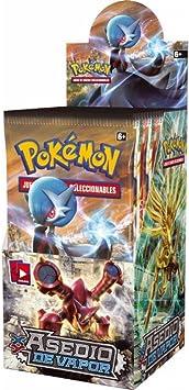 Pokemon Caja con 18 sobres Pokemon Especiales ASEDIO VAPOR!!: Amazon.es: Juguetes y juegos