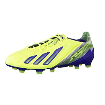 competitive price 99aac a1706 Adidas ADIZERO F50 TRX FG LEATHER Scarpe da Calcio Giallo Blu Scuro Pelle  per Uomo  Amazon.it  Sport e tempo libero
