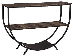 Ashley Furniture Signature Design - Lamoney Console Sofa Table - Casual - Gray/White/Brown