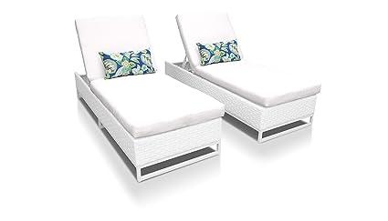 Amazon.com: TKC Miami de patio chaise lounge (juego de 2 ...