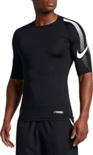 a4e37c40f Nike Pro Men's Dri-Fit Half Sleeve Football Compression Top Shirt White  837174 100