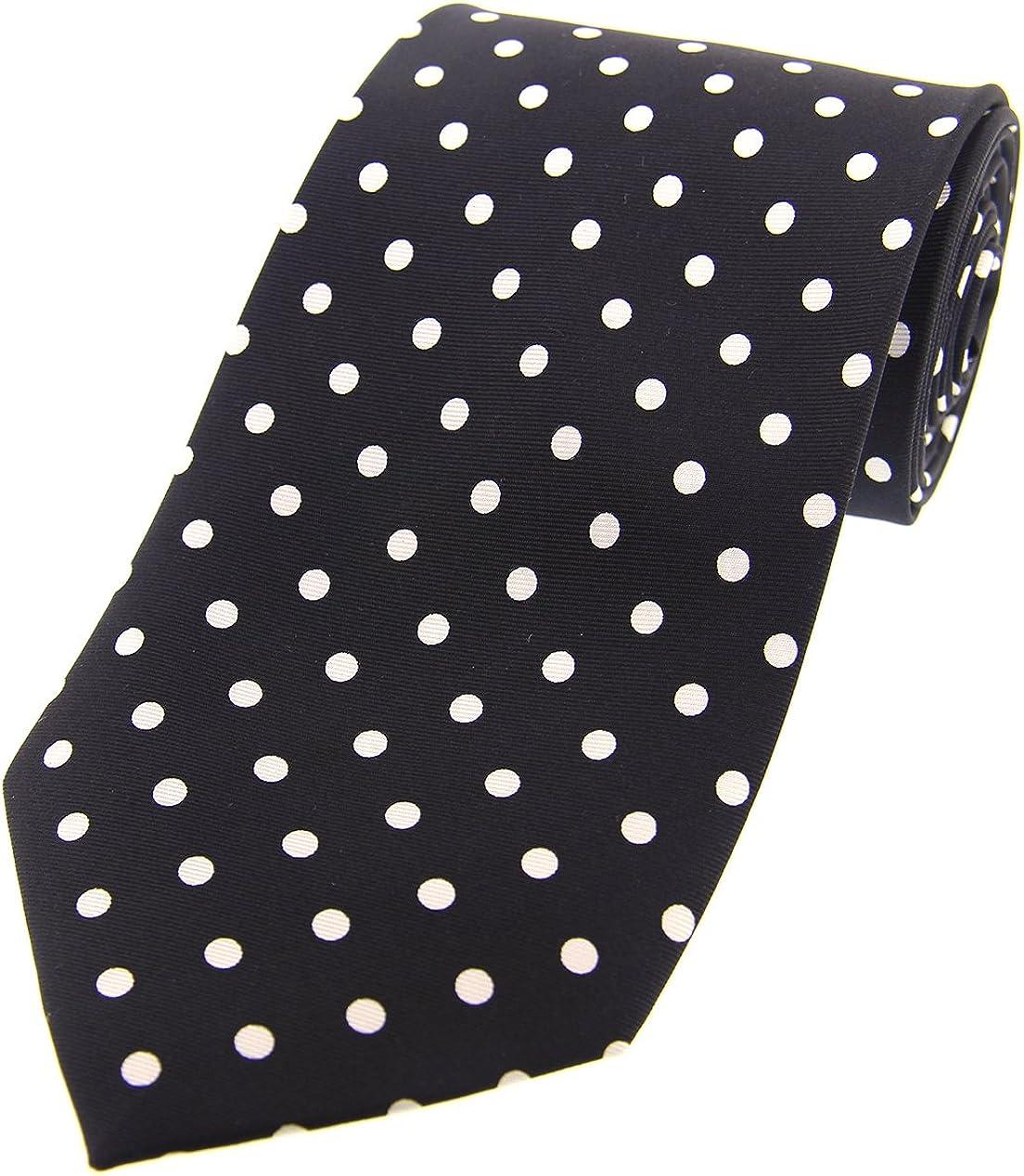 Soprano Vintage blanco y negro diseño de lunares de seda corbata ...