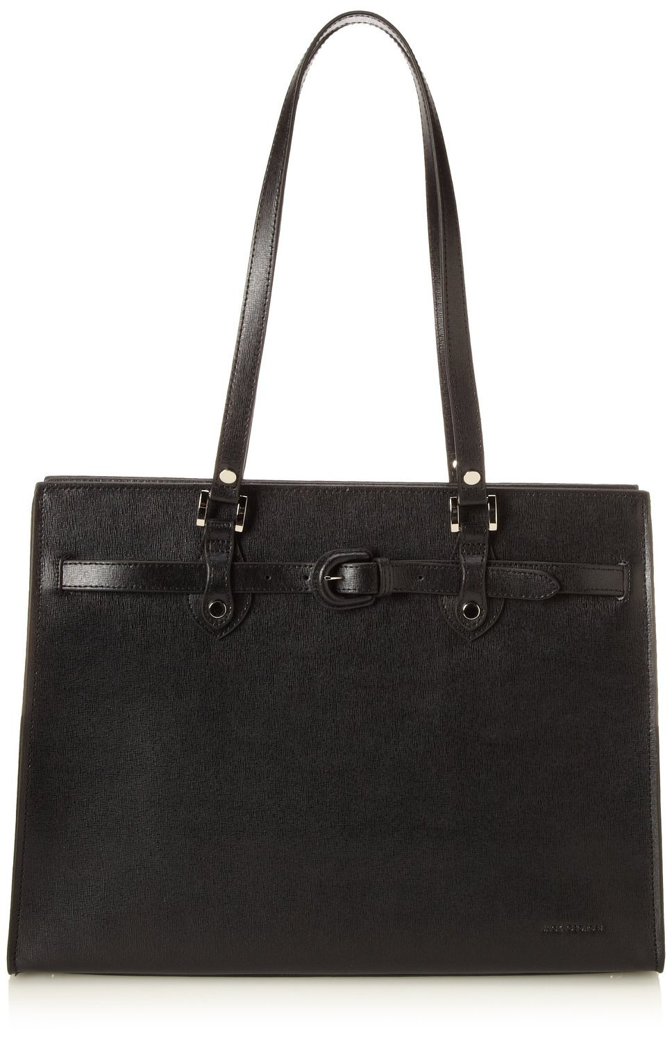 Jack Georges Womens [Personalized Initials Embossing] Chelsea Alexis Business Tote in Black