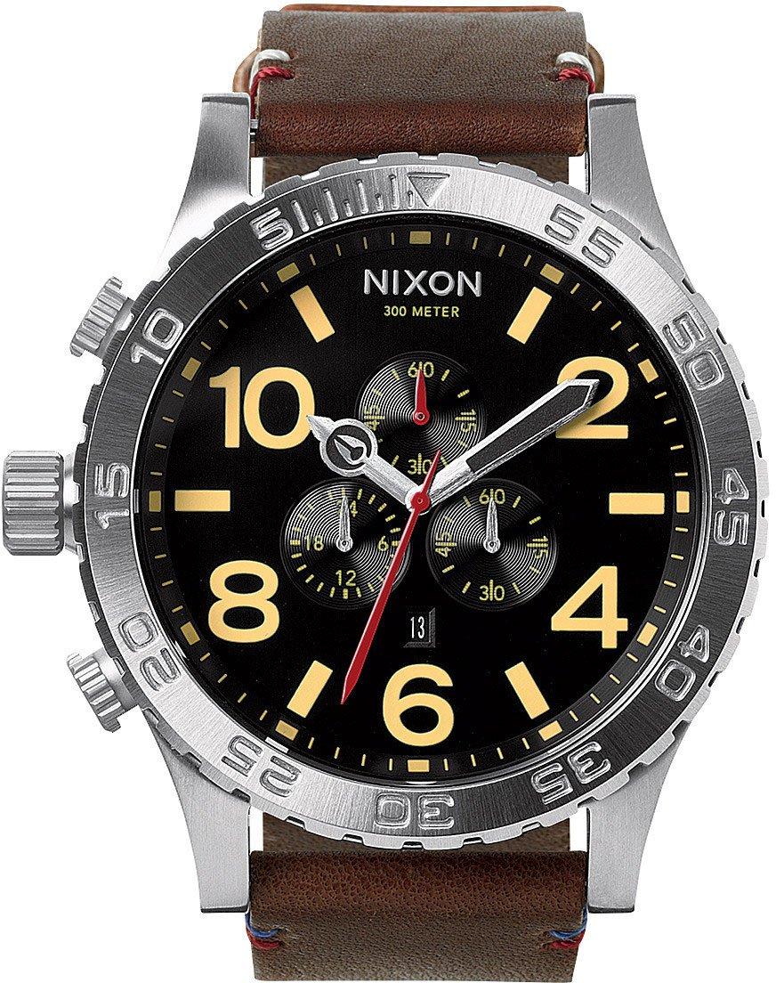Nixon Men's A124019 51-30 Chrono Leather Watch by NIXON