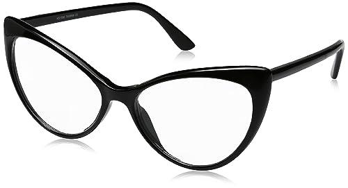 Amazon.com: zeroUV - Super Cat Eye Glasses Vintage Inspired Mod ...
