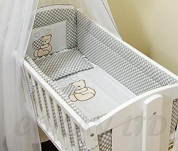 White 6pcs BABY SWINGING// ROCKING CRIB //CRADLE BEDDING SET//ALL ROUND BUMPER 100/% COTTON!