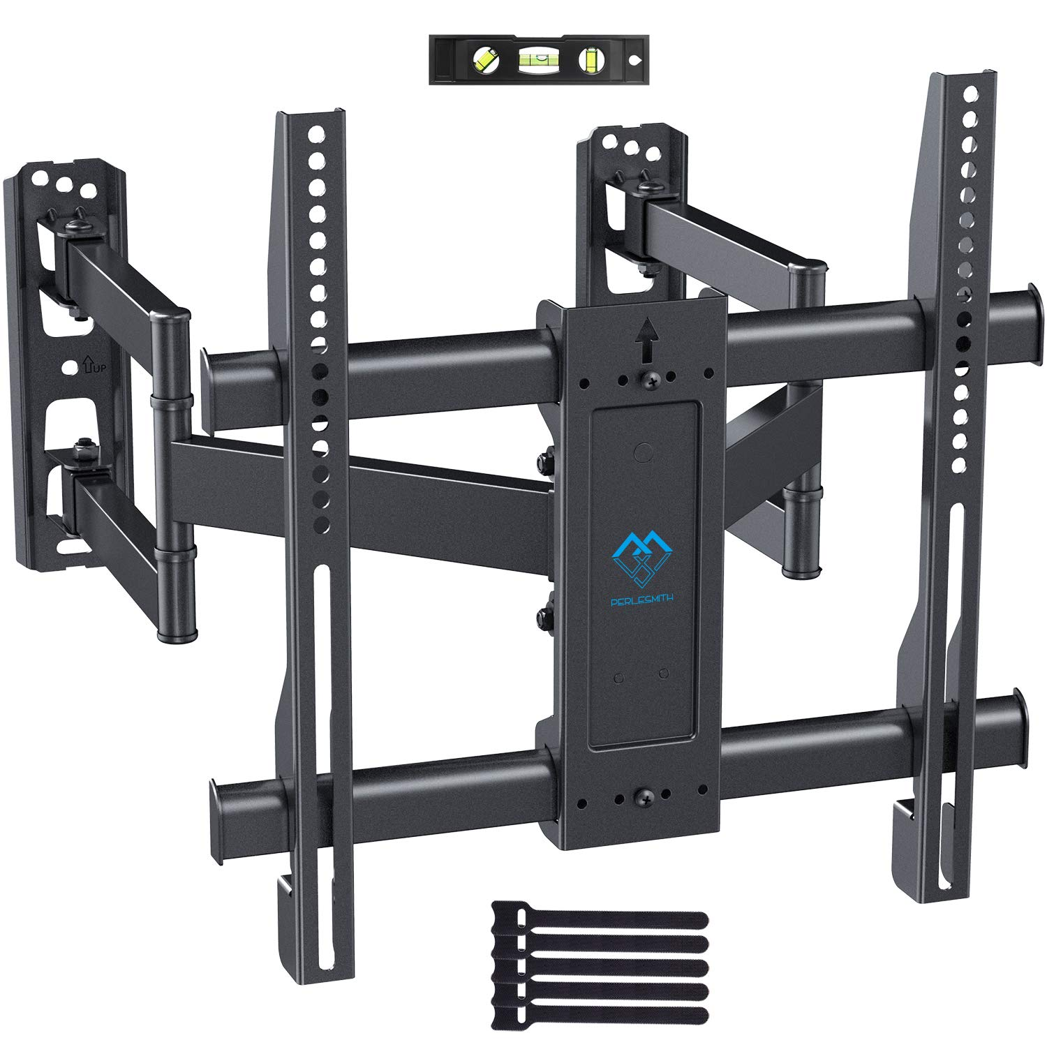 Corner TV Wall Mount Bracket Tilts, Swivels, Extends - Full Motion Articulating TV Mount for 26-55 Inch LED, LCD, Plasma Flat Screen TVs - Holds up to 99 Lbs, VESA 400x400 - Heavy Duty TV Bracket by PERLESMITH
