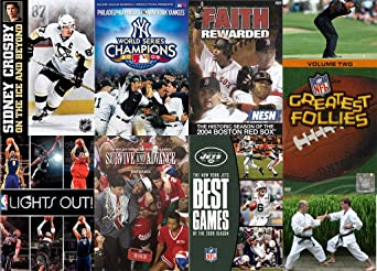 Amazon Com Heck Yeah Sports Espn Nfl Nba Mlb Nhl All The Bases Covered Get It 7 Dvd Mega Bundle Movies Tv