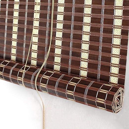 Persiana de bambú Persianas De Cortina Exterior Enrollables para ...