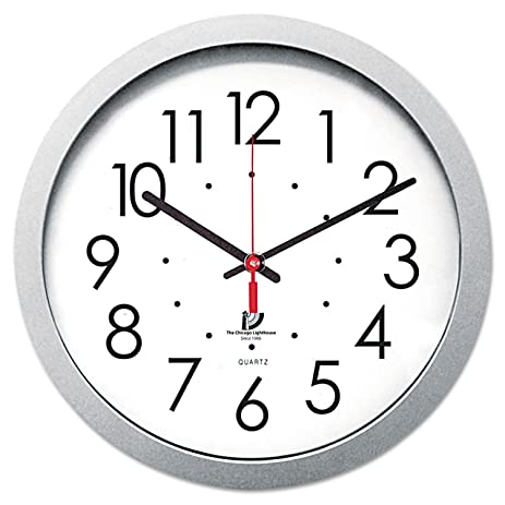 the chicago lighthouse wall clock with white dial