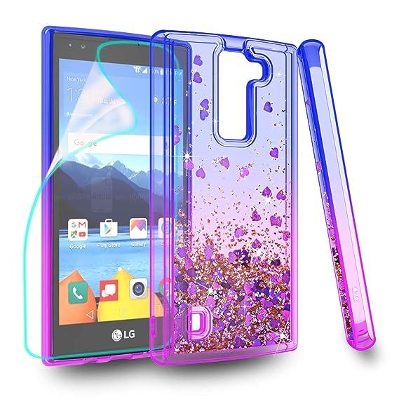 super popular 31d3d 37488 ZingCon Suit for LG K8 V Case, K8V, VS 500 Phone Case, Glitter Case with  Quicksand Bling Adorable Shine, [HD Screen Protector] Shockproof Hybrid  Hard ...