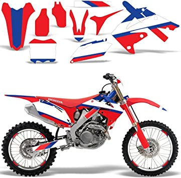 2010 2011 2012 2013 HONDA CRF 250R GRAPHICS KIT CRF250R RED MOTOCROSS DECALS