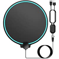 [Updated 2020] HD Digital TV Antenna Long Range 150 Miles Indoor Amplified Signal Booster Support 4K 1080P UHF VHF FM…