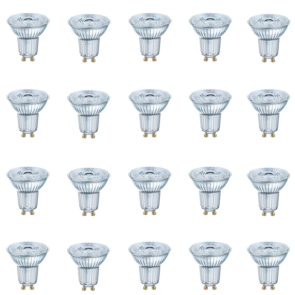 20er Pack LED Glas-Spot OSRAM GU10 3,1W (35W) 230 Lumen 36° warm Weiß dimmable