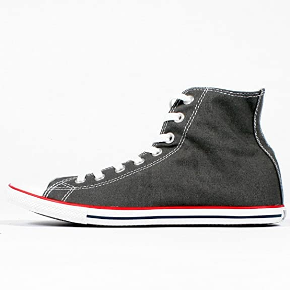Converse Chuck Taylor Charcoal Slim Hallo Top Schuhe
