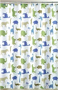 Allure Home Creations Animal Cracker Fabric Shower Curtain