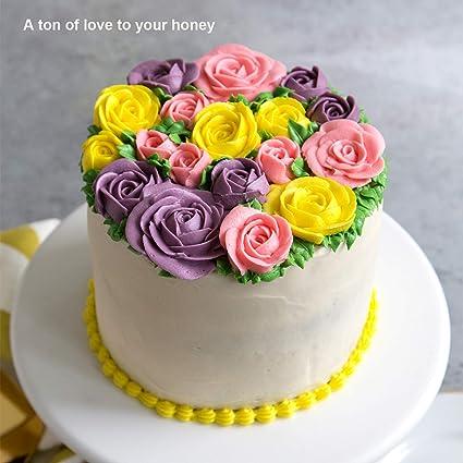 Moldes para hornear hechos a mano de silicona con forma de rosa 3D - Flor Fondant de silicona Molde Pastel de pasta de azúcar Diseño de pastelitos para ...