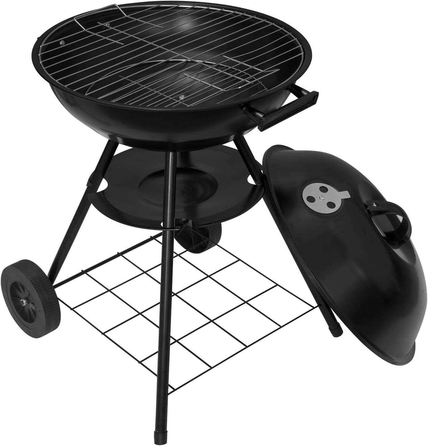 73CM Barbecue Grill f/ür Garten Camping Schwarz WOLTU CPZ8134sz Holzkohlegrill Holzkohle Kugelgrill Standgrill mit R/äder 44