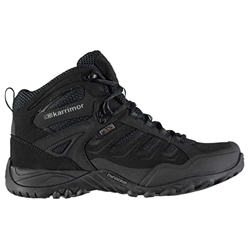 Karrimor Mens Helium WTX Walking Boots Lace Up Breathable Waterproof Padded  Black UK 7 (41