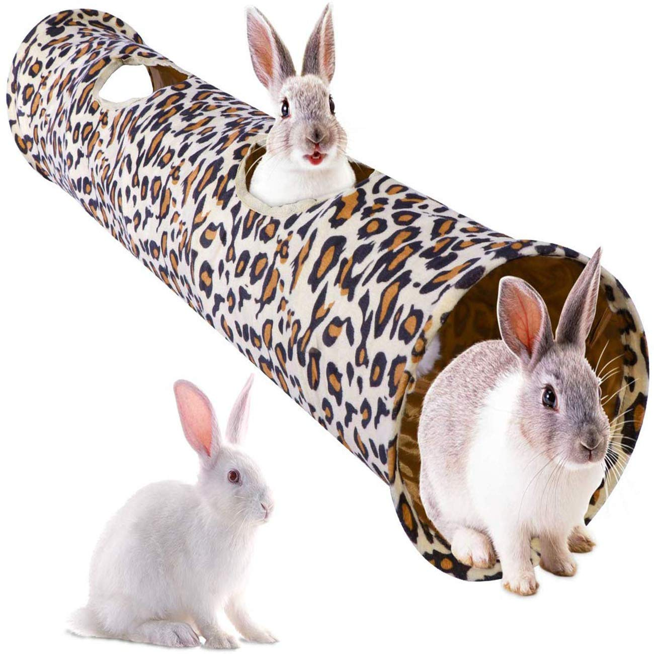 Li-HIM Rabbit Tunnel/Cat Tunnel, with Hang Ball Peek Hole Collapsible and Portable Soft Durable for Cats Puppy Rabbits by Li-HIM