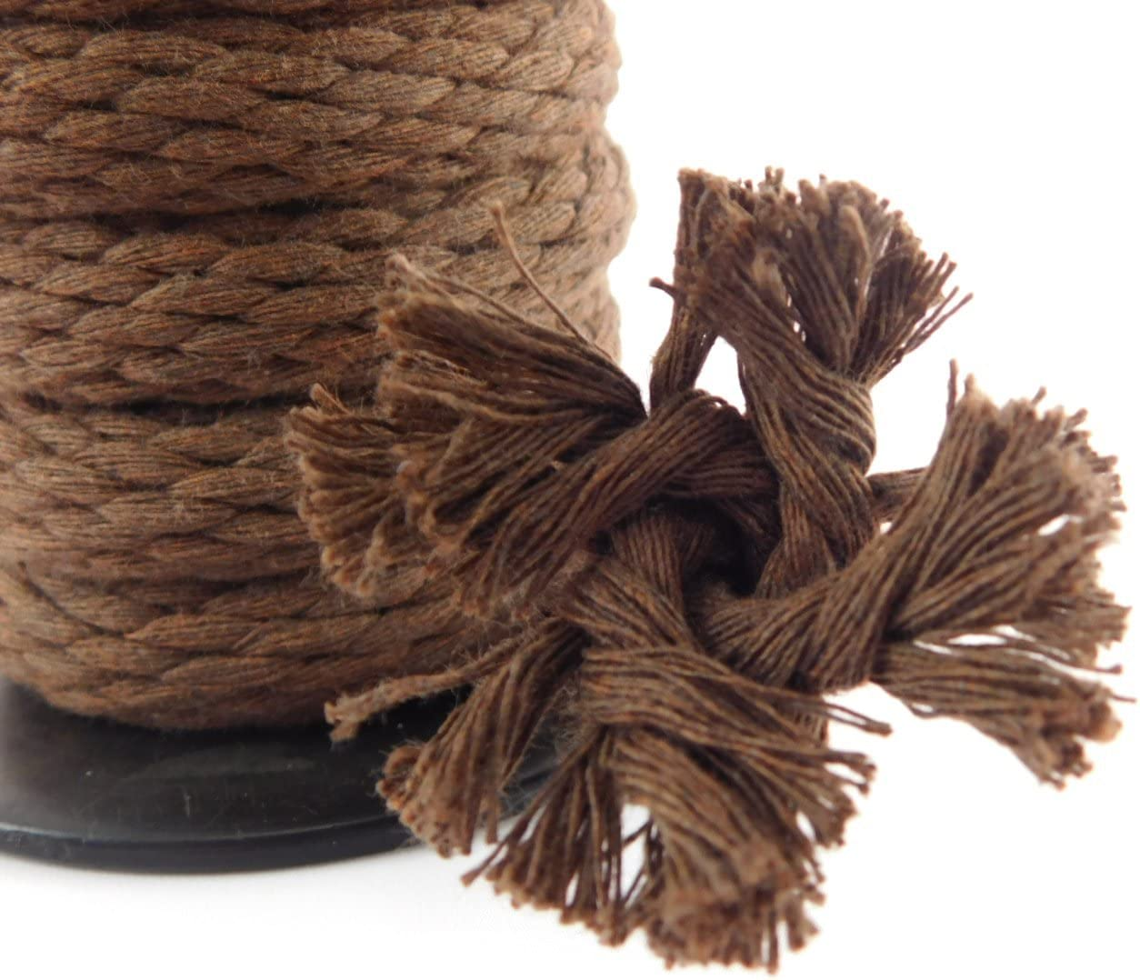 Tan Variety of Colors and Lengths Utility Rope and More | Made in The USA Macrame Projects Ravenox Solid Braid Cotton Rope | Clothesline Used as Sash Cord 1//2-in x 10 FT