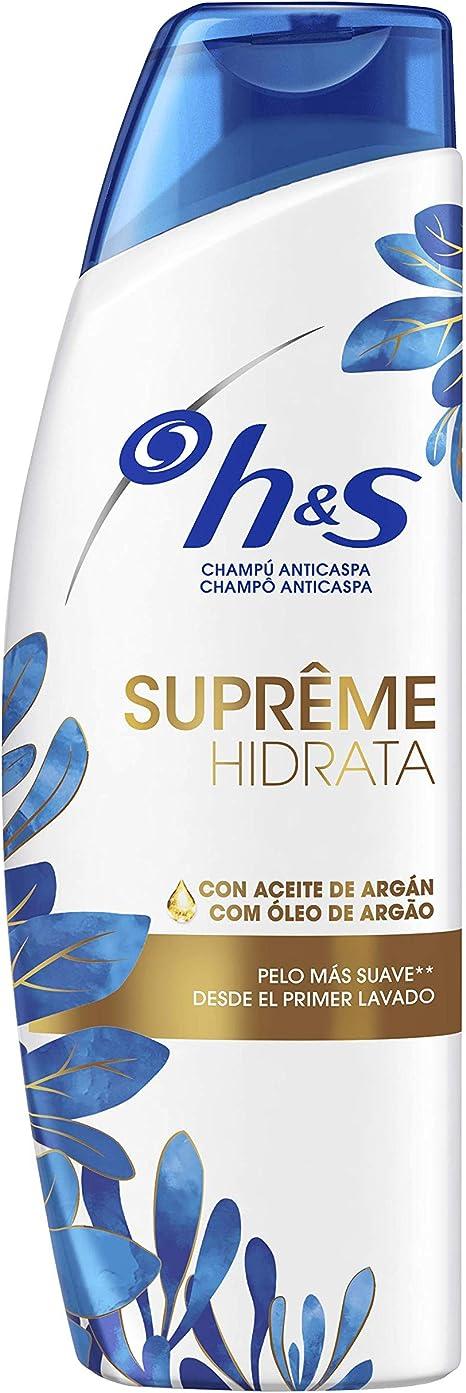 Head & Shoulders Supreme Suave Champú Anticaspa Pelo Seco - 2 Recipientes de 300 ml - Total: 600 ml: Amazon.es: Salud y cuidado personal