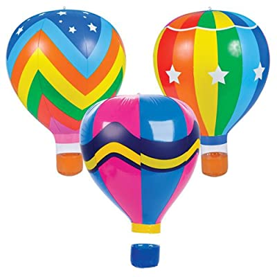 "ROCKYMART (LOT of 3) 22"" Rainbow HOT AIR Balloons Inflatables rm4107: Toys & Games"