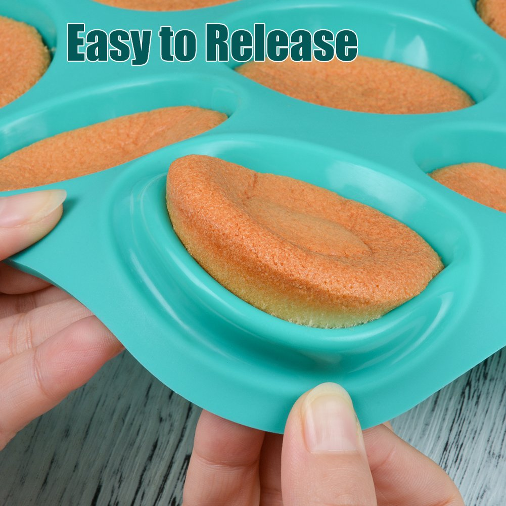 Silicone Muffin Cupcake Pan Set - Mini 24 Cups and Regular 12 Cups Muffin Tin, Nonstick BPA Free Best Food Grade Silicone Molds with Bonus 12 Silicone Baking Cups by Silikolove (Image #5)