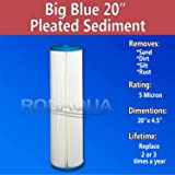 "20"" Big Blue Water Filter Purifier System with 5"