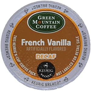 Green Mountain Coffee French Vanilla Decaf, K-Cup Portion Pack for Keurig K-Cup Brewers (Pack of 48)Pacakaging may vary