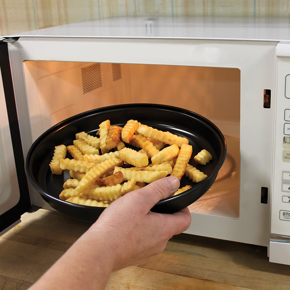 Micro Crisper Pan - Makes Crispy Pizza, French Fries & More In The Microwave by Bandwagon (Image #2)