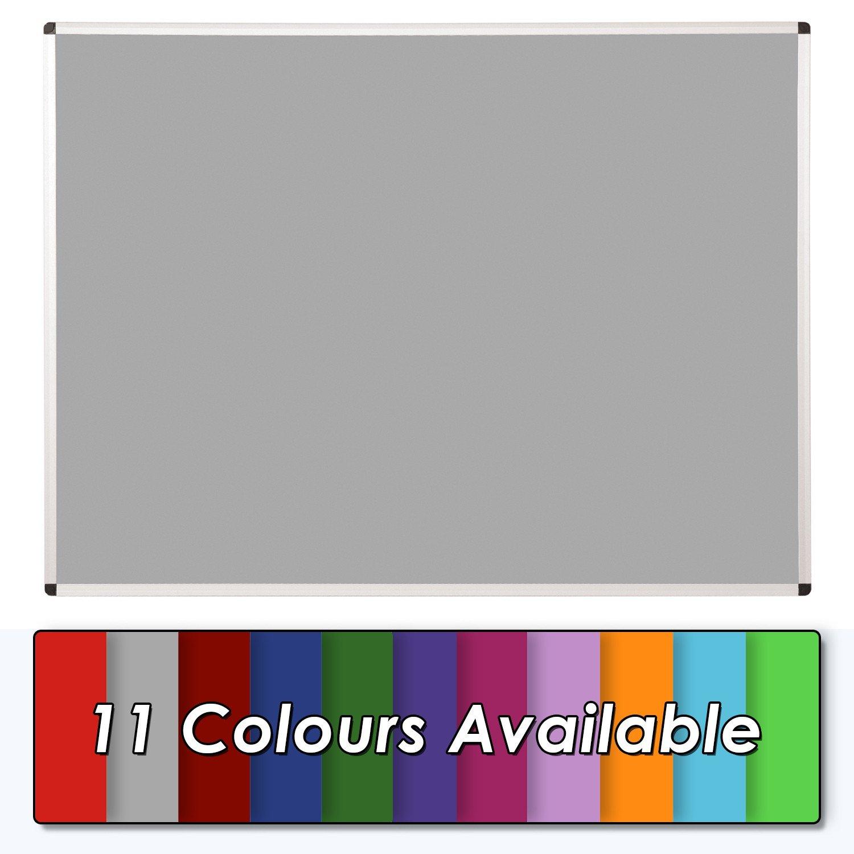 Red Premium Noticeboard Aluminium Frame 120 x 90cm with Fixings