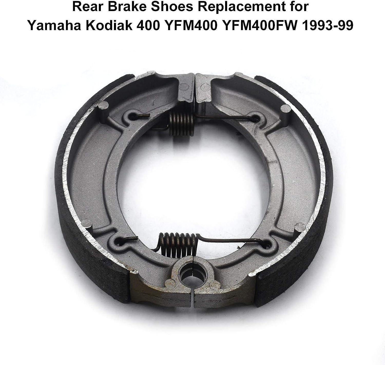 Ersatz der hinteren Bremsbacken f/ür Yamaha Kodiak 400 YFM400 YFM400FW 1993-99 Irfora Bremsbacken hinten