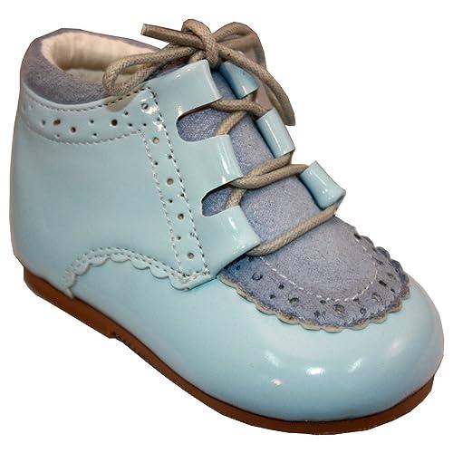 8522ec1b4f0e5 Sevva garçons Chaussures à Lacets Occasion Smart Espagnol Bottes Rollybaby  - Bleu - Bleu bébé