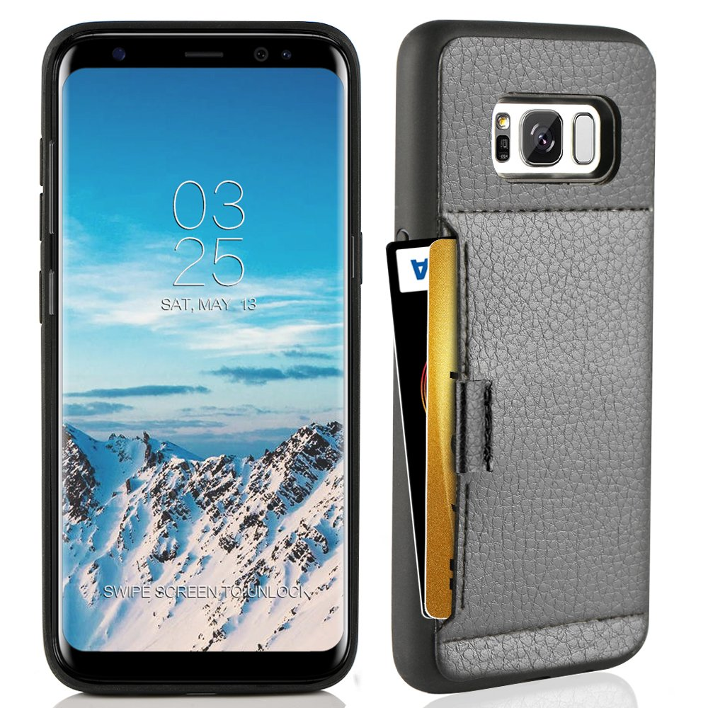 info for 2b07f 3182f ZVE Case for Samsung Galaxy S8, 5.8 inch, Slim Leather Wallet Case with  Credit Card Holder Slot Pocket Protective Functional Case Cover for Samsung  ...