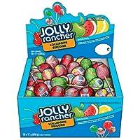 JOLLY RANCHER Assorted Halloween Candy Lolipops, 850 Gram Box (50 lollipops)