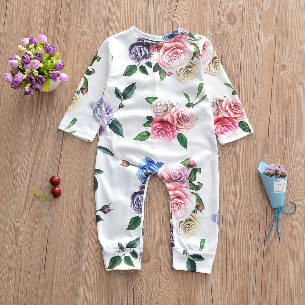 6-24 m Newborn Baby Girls Floral Print Ruffles Romper Princess Outfit Clothing Challeng Baby Girls Clothing Set Baby Boy