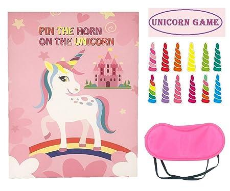 Juego de fiesta de unicornio para niños, decoración de ...