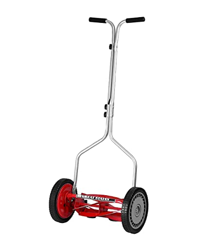 Great States 304-14 14-Inch 5-Blade Push Reel Lawnmower Renewed