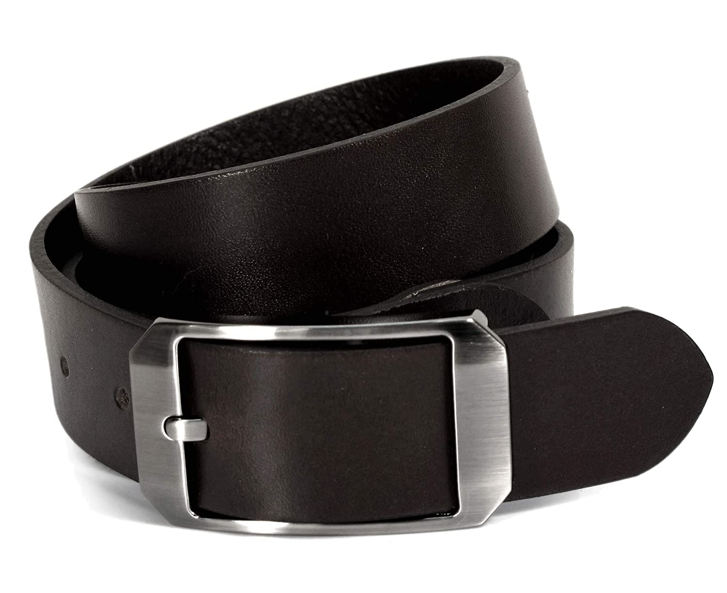 CU1 Mens Real Genuine Leather Belt Black Brown White 1.25 Wide S-L Casual Jeans