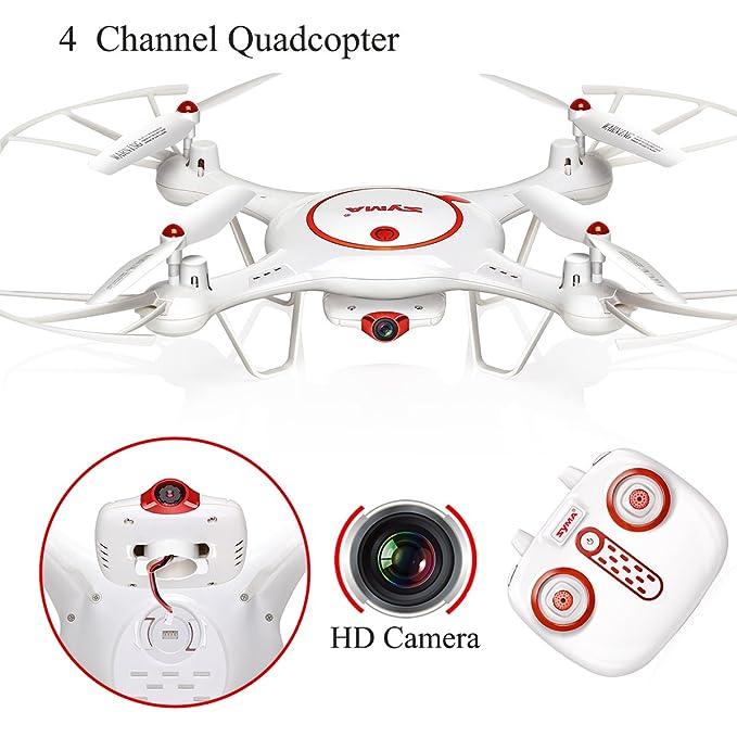 Syma X5UC Dron 4CH 2.4G Mando Distancia Cuadricóptero 6 ejes Gyro ...