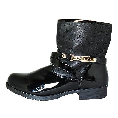 Damen Stiefelette Boots Schlupfstiefel Ankle Boot Winter Stiefel Schuh