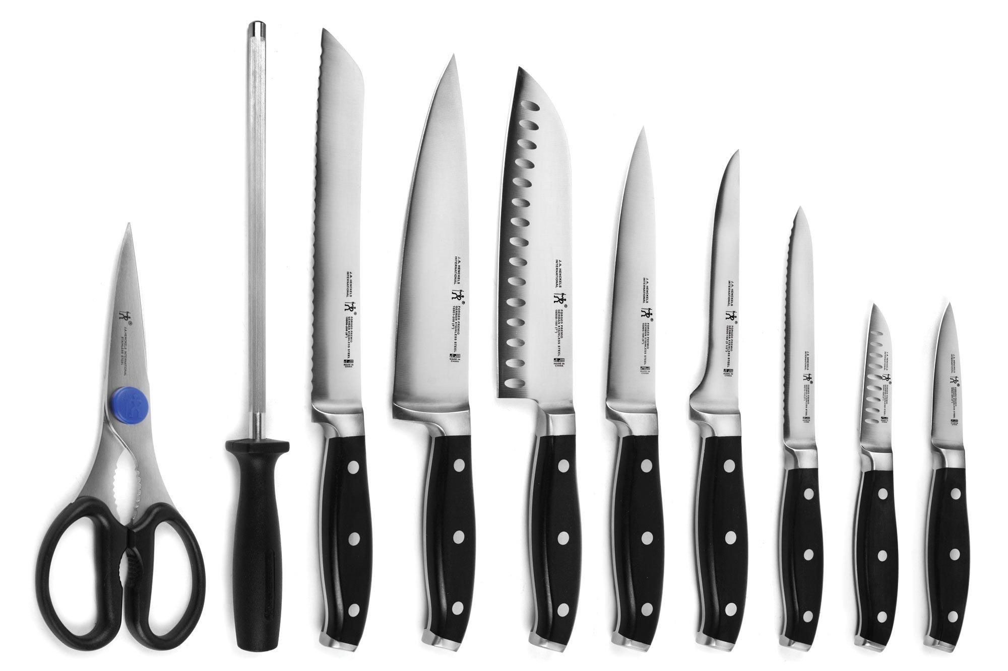 J.A. Henckels International Forged Premio 19-piece Knife Set with Cherry Block by Henckels (Image #2)